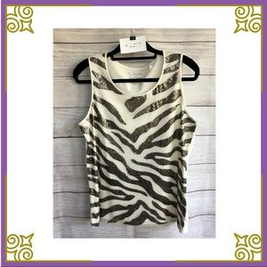 👚 by Chico's Sequin tank top Size Chico's 2 #023